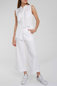 Baci Tencel Button Down Tank - Product List Image
