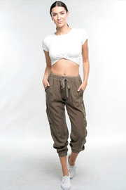 R+D Hipster Emporium  Tencel Cargo Pant - Front cropped