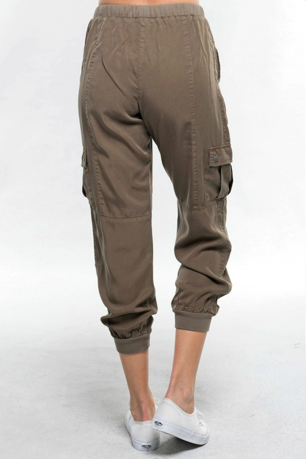 R+D Hipster Emporium  Tencel Cargo Pant - Side Cropped Image
