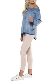 Dex Denim Off-Shoulder Top - Front full body