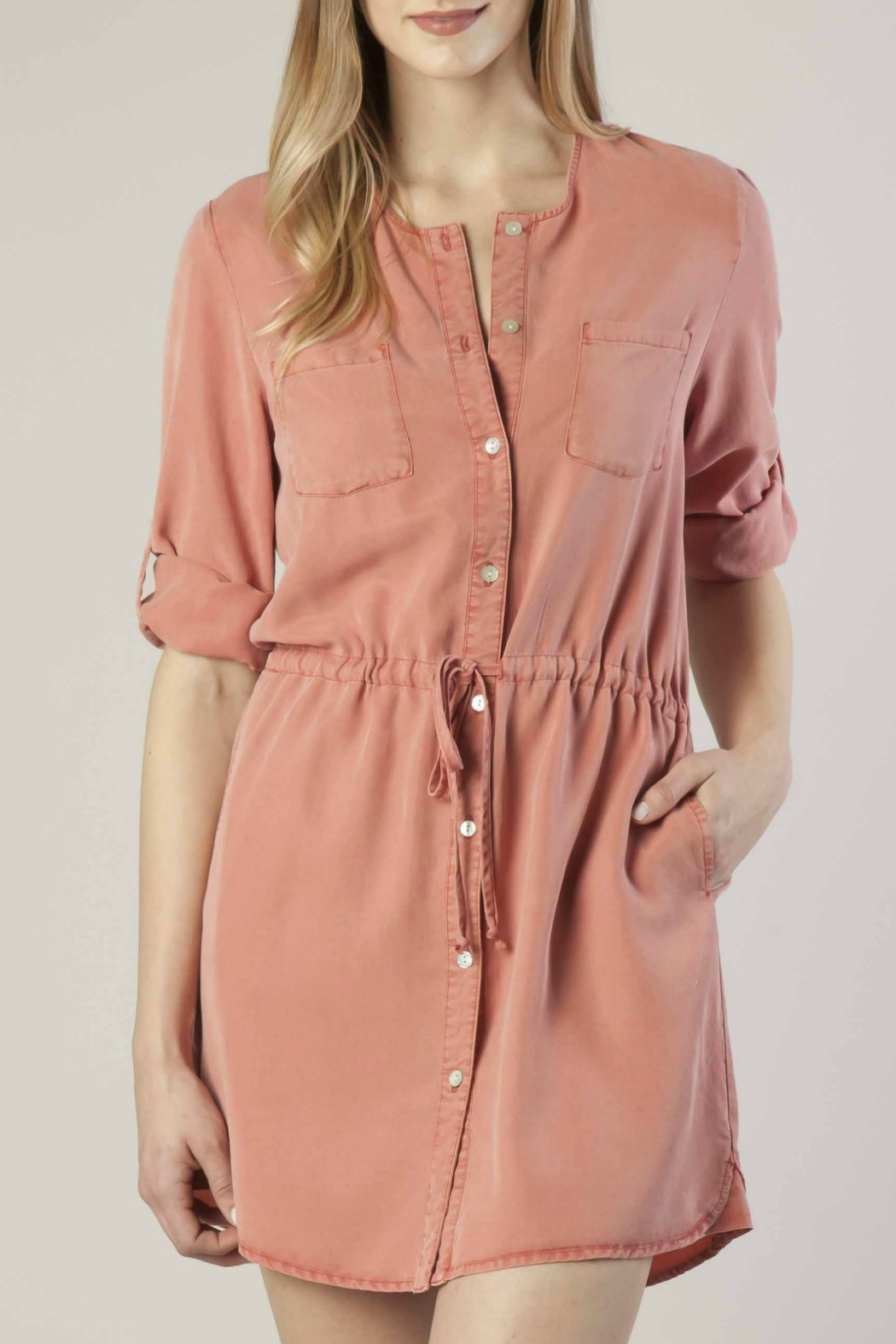 Dear John Tencel Shirt Dress - Main Image