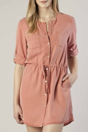 Dear John Tencel Shirt Dress - Front cropped