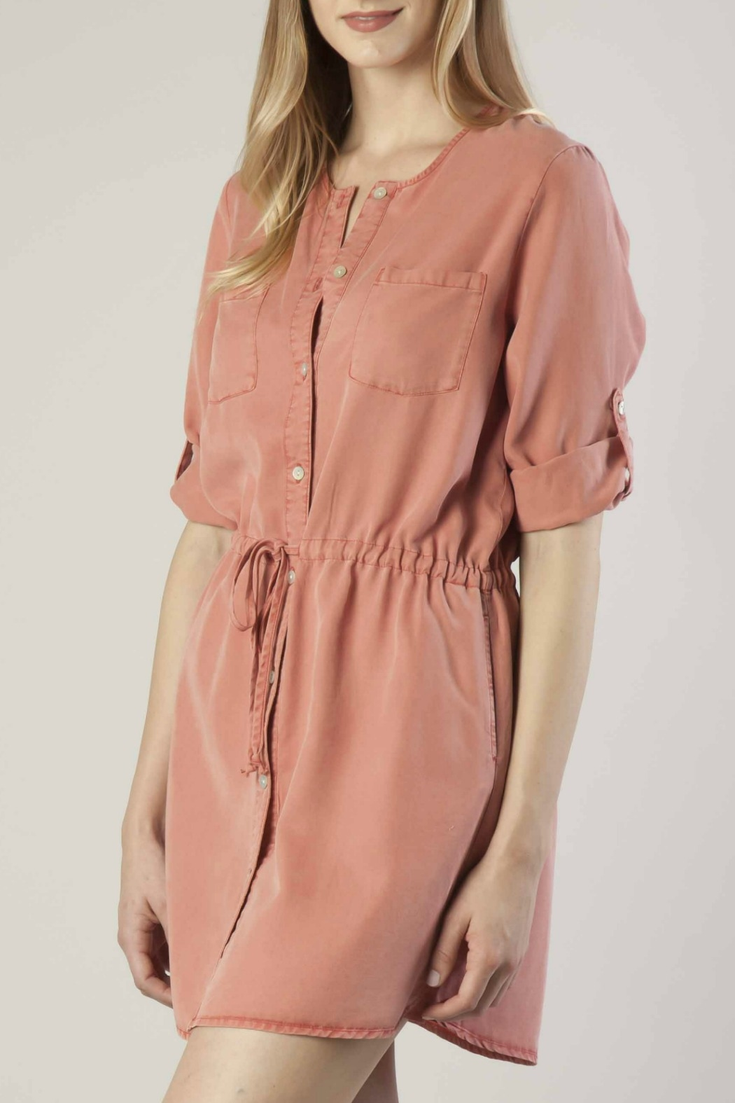Dear John Tencel Shirt Dress - Front Full Image