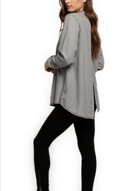 Dex Tencel Slit-Back Top - Product Mini Image