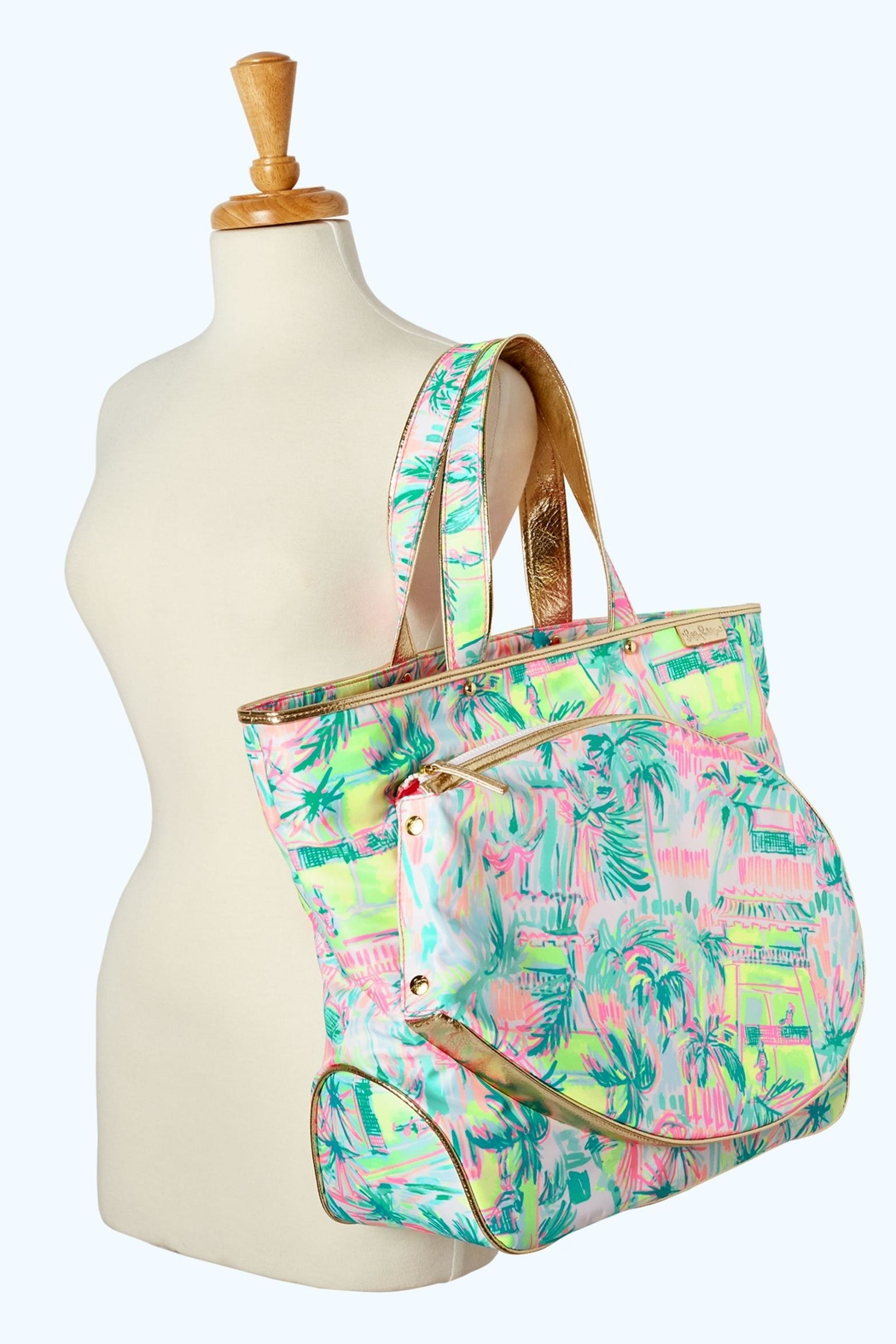 Lilly Pulitzer Tennis Tote Bag Side Cropped Image