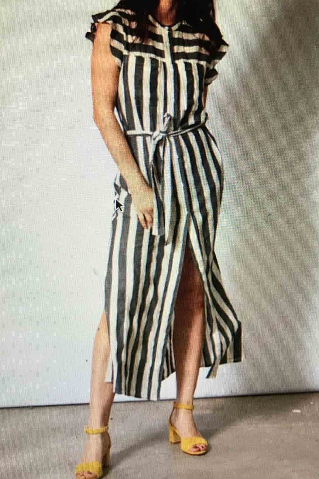 Teoh & Lea Striped Summerdress - Front Cropped Image