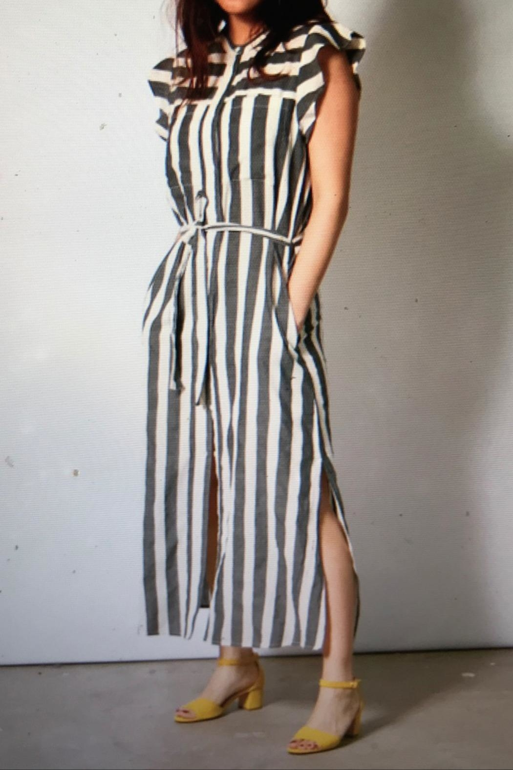 Teoh & Lea Striped Summerdress - Back Cropped Image