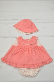 cesar blanco Tepee Coral Dress - Front cropped