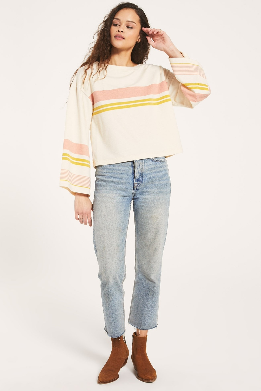 Z Supply  Tera Stripe Pullover - Side Cropped Image