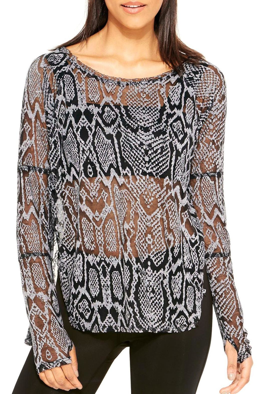 Terez Burnout Snakeskin Top - Main Image