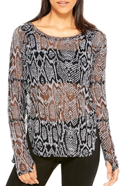 Terez Burnout Snakeskin Top - Product Mini Image