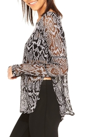 Terez Burnout Snakeskin Top - Front full body