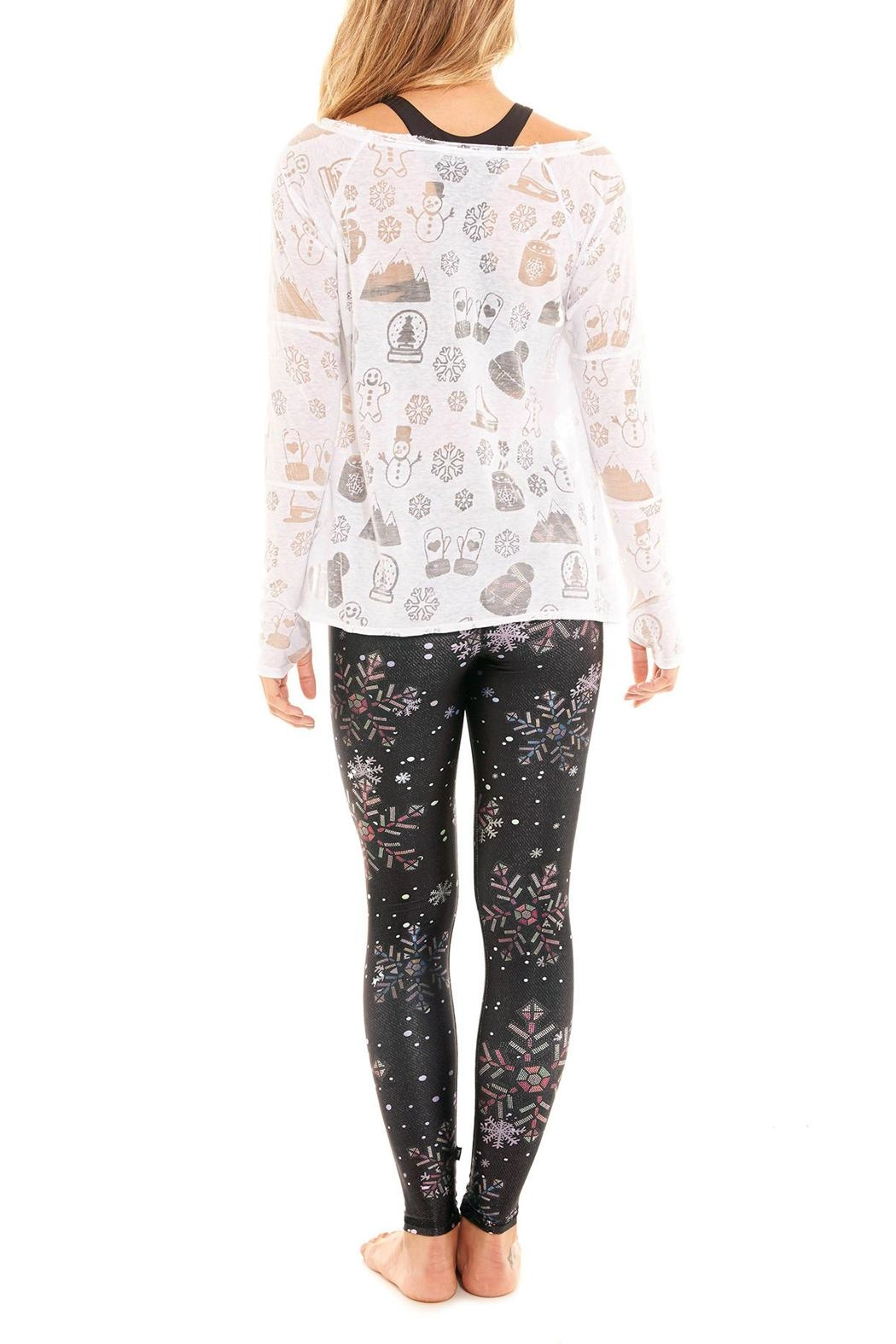 Terez Crystal Snowflake Legging - Side Cropped Image