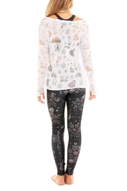 Terez Crystal Snowflake Legging - Side cropped