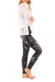Terez Crystal Snowflake Legging - Front full body