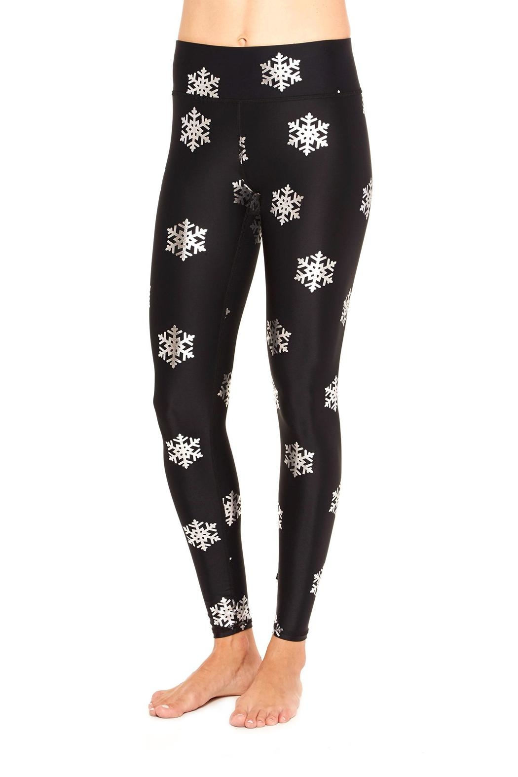 Terez Foil Snowflake Legging - Front Cropped Image