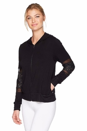Terez Laser Cut Star Hoodie - Front cropped