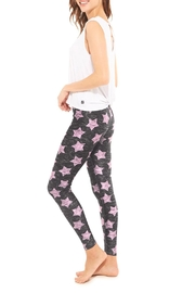 Terez Pink Star Legging - Front full body