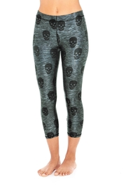 Terez Starry Skull Capri - Product Mini Image