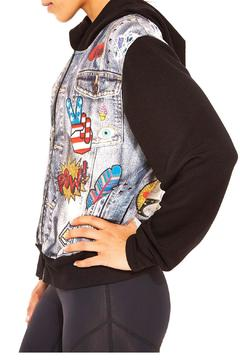 Shoptiques Product: Terry Printed Hoodie