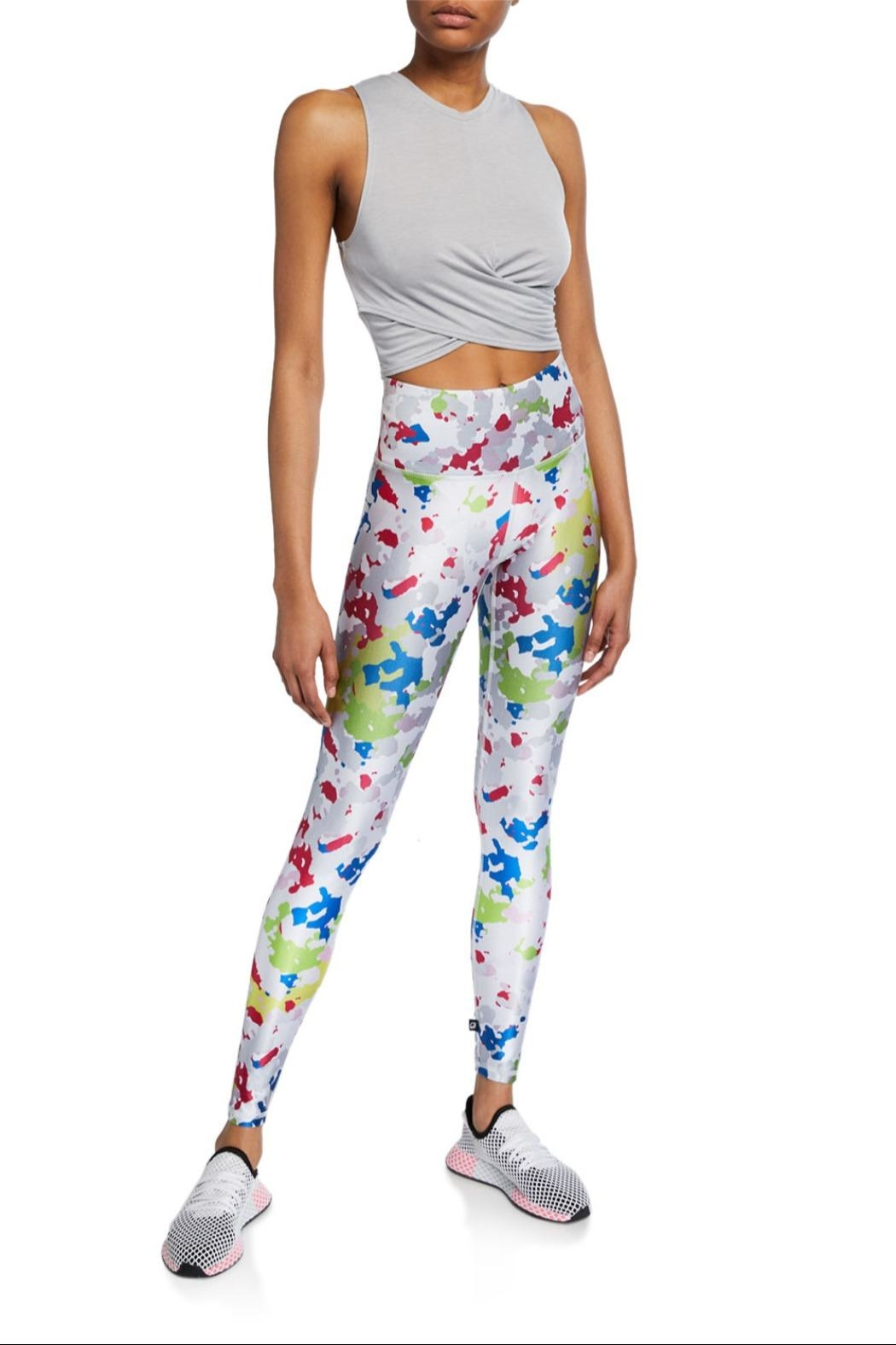 Terez White Camo Capri - Side Cropped Image