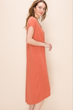 Double Zero Terra Cotta V neck dress - Alternate List Image