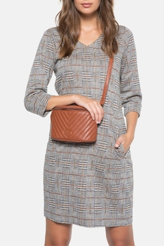 Terre Bleue Grey Checked Dress - Product List Image