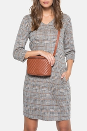 Terre Bleue Grey Checked Dress - Product Mini Image