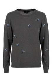 Terre Bleue Sweater With Embroidery - Product Mini Image