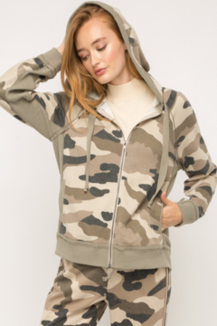 Mystree Terry Camo Jacket - Product List Image
