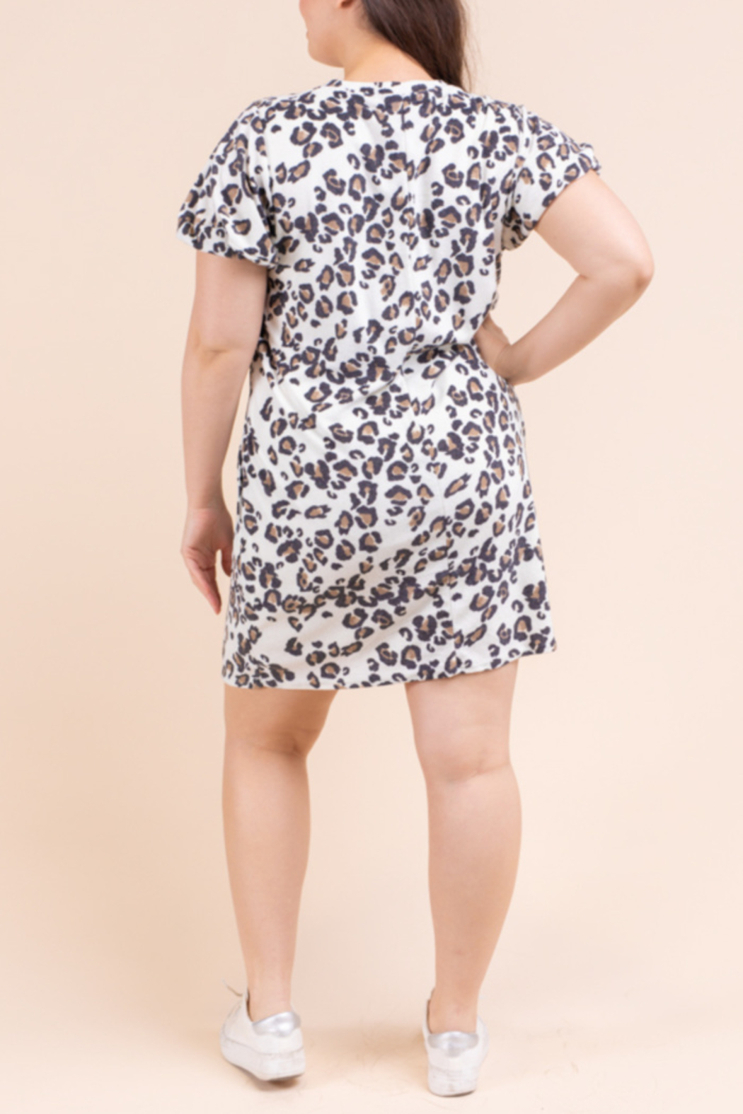 Gilli Terry Leo Dress Curvy - Front Full Image