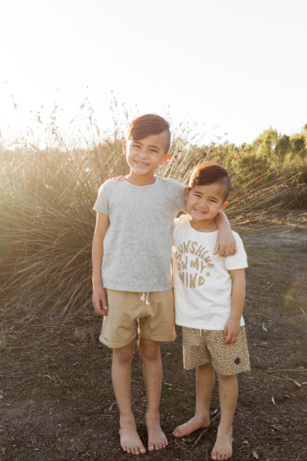 Rylee & Cru Terry Sweat Short - Back Cropped Image