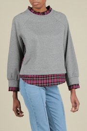 Current Air Terry with plaid pullover - Product Mini Image