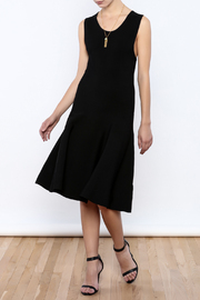 Tesoro Moda Black Peplum Dress - Product Mini Image