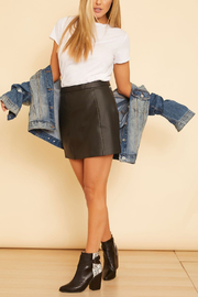 Gentle Fawn Tesoro Vegan Leather Skirt - Front cropped