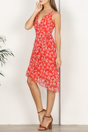 Adelyn Rae Tessie Printed Asymmetrical Dress - Product Mini Image