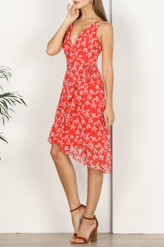 Adelyn Rae Tessie Printed Asymmetrical Dress - Product List Image