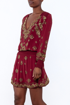 Shoptiques Product: Beaded Ruby Dress