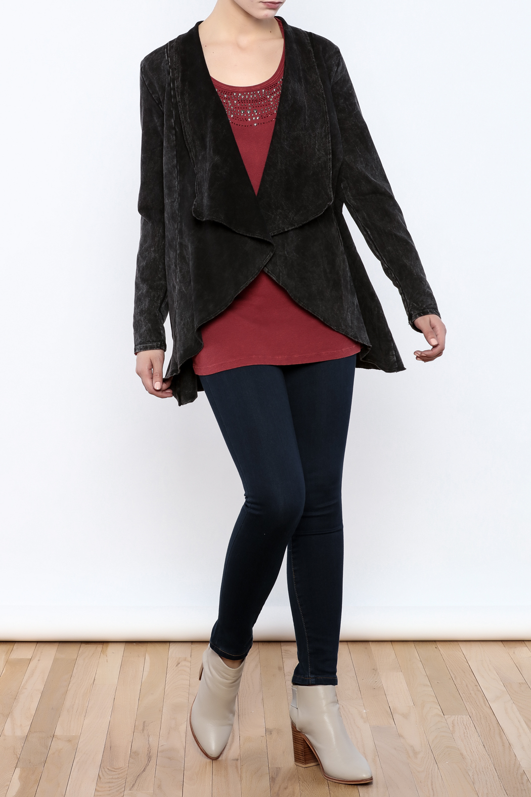 Testimony Fitted Knit Victoria Jacket - Front Full Image
