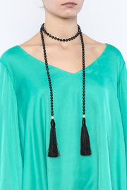 Texas Beach Boutique Black Pearl Lariat - Back cropped