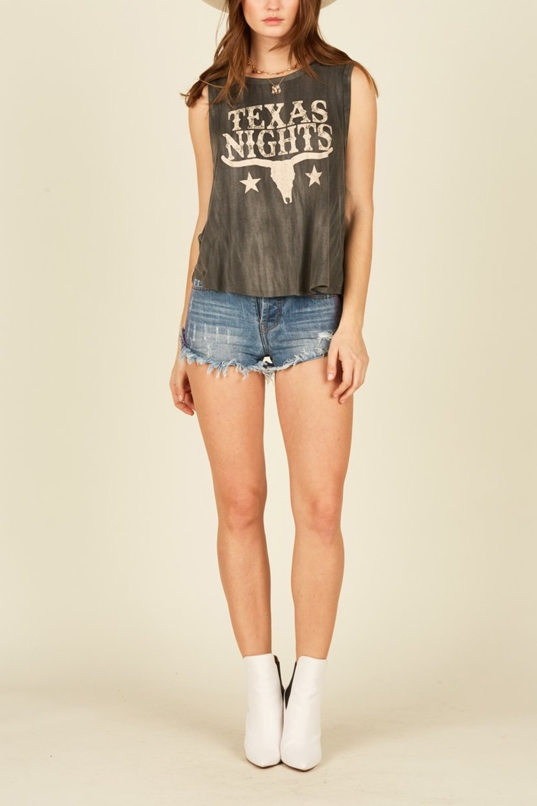 Vintage Havana  Texas Nights Graphic Tank - Front Cropped Image