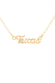 Kris Nations TEXAS SCRIPT NECKLACE - Front cropped
