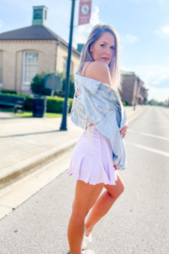 Blue B Text Me Later Lavender Ruffle Skirt - Product List Image
