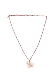 OMG Blings Texted Heart-Plate Necklace - Product Mini Image