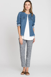 Nic + Zoe Texture-look pattern ankle pant. Lightweight stretch fabric. Pull-on style. - Product Mini Image