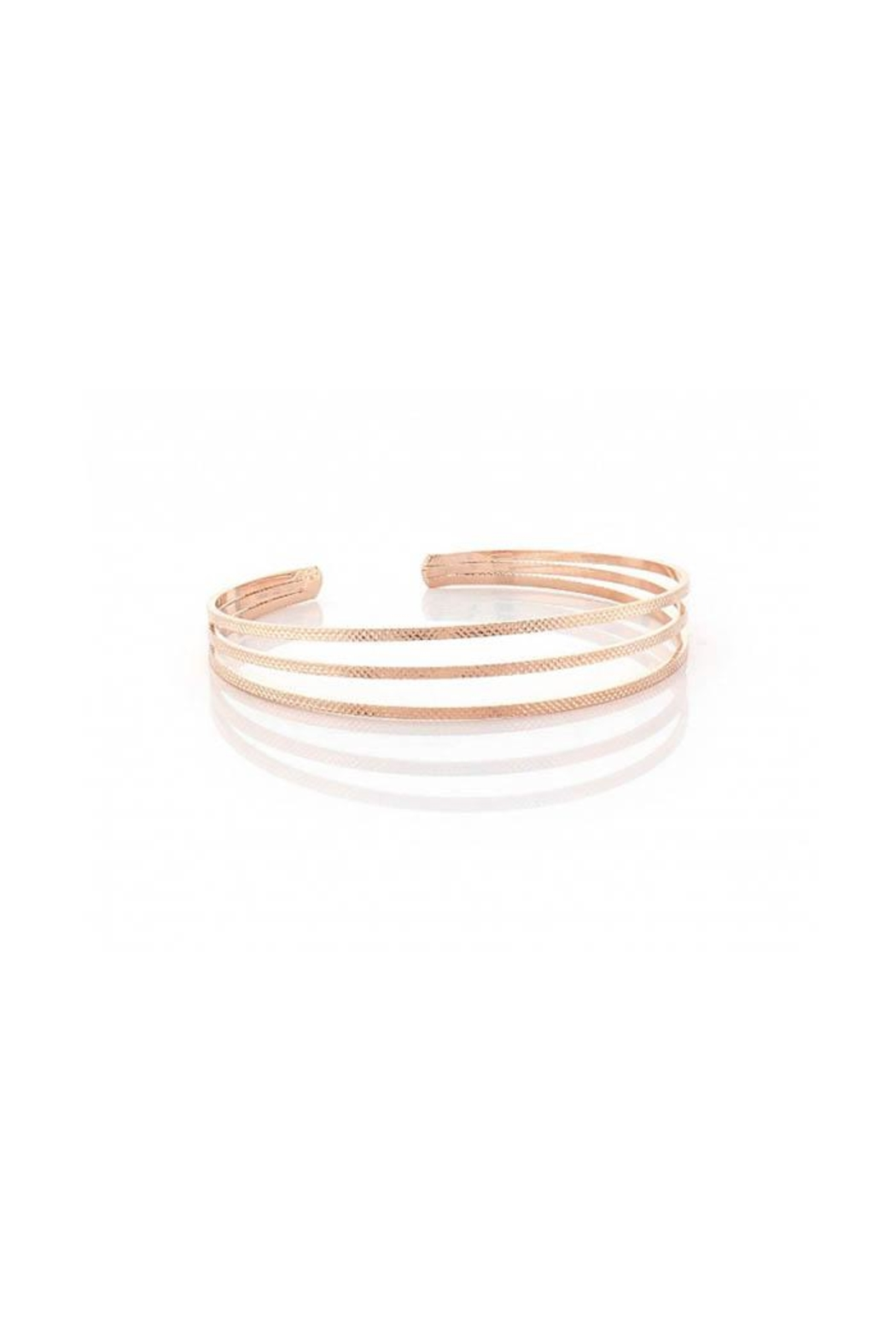 Lets Accessorize Texture Open Bangle - Front Cropped Image