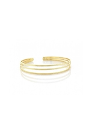 Lets Accessorize Texture Open Bangle - Front cropped