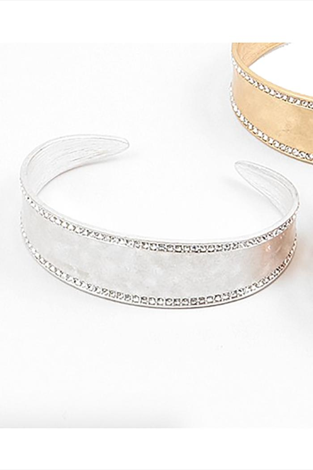 Lets Accessorize Texture Stone Cuff - Front Cropped Image