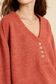 Wishlist Textured 2tone Knit Top - Side cropped