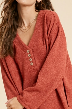 Wishlist Textured 2tone Knit Top - Product List Image
